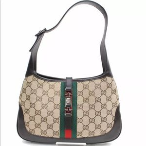 Authentic GUCCI Jackie hobo shoulder bag brown